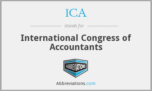 What does ICA stand for?
