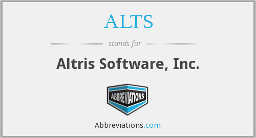What does ALTS stand for?
