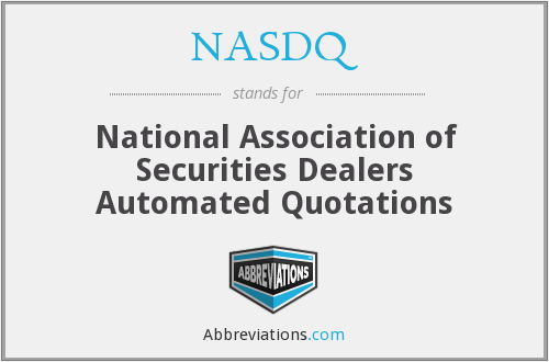 What does NASDQ stand for?
