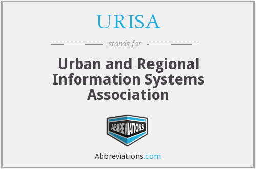 What does URISA stand for?