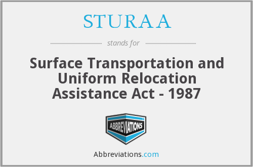 What does STURAA stand for?