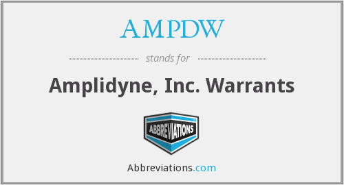 What does AMPDW stand for?