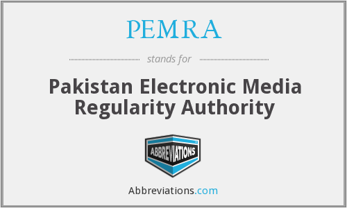What does PEMRA stand for?