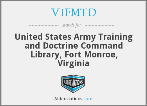 What does VIFMTD stand for?