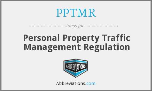 What does PPTMR stand for?