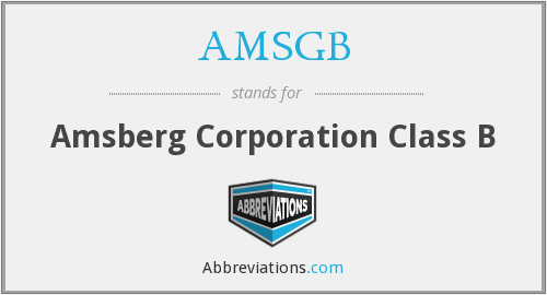 What does AMSGB stand for?