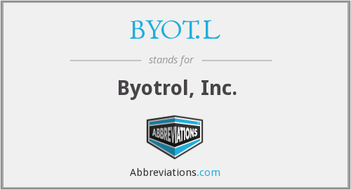 What does BYOT.L stand for?