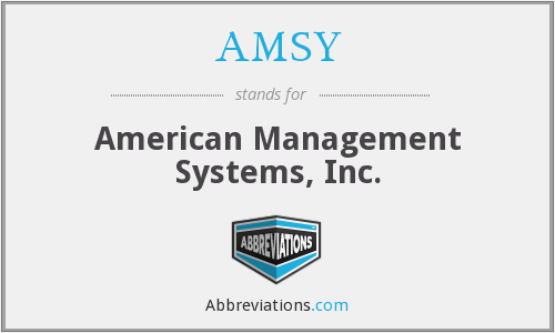 What does AMSY stand for?
