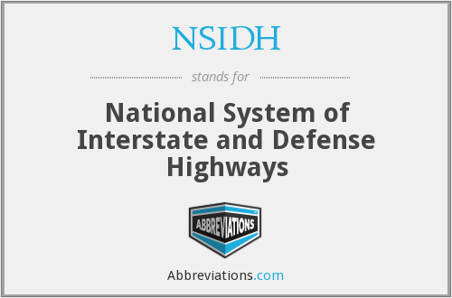 What does NSIDH stand for?