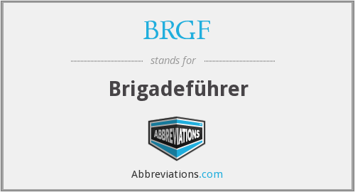 What does BRGF stand for?