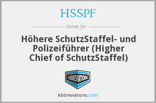 What does HSSPF stand for?