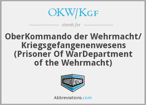 What does OKW/KGF stand for?