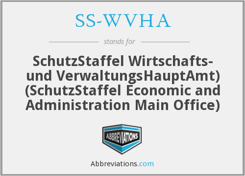 What does SS-WVHA stand for?