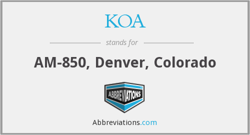 What does KOA stand for?