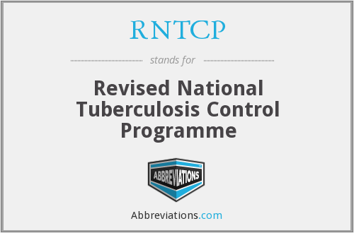 What does RNTCP stand for?