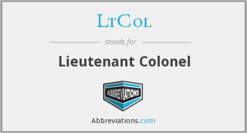 What does LTCOL stand for?