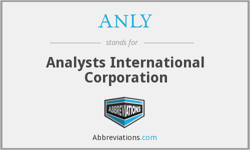 What does ANLY stand for?