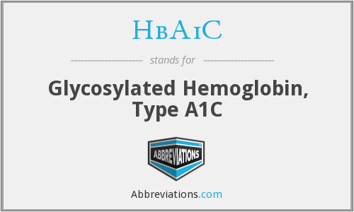 What does HBA1C stand for?