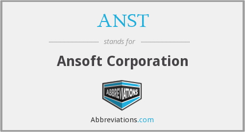 What does ANST stand for?