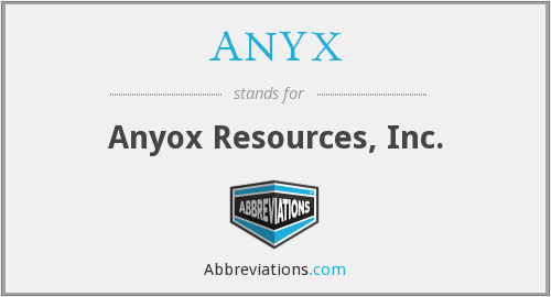 What does ANYX stand for?