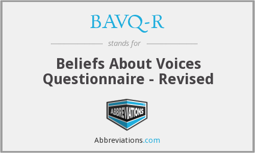What does BAVQ-R stand for?