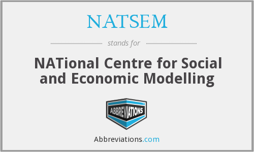 What does NATSEM stand for?