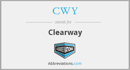 What does CWY stand for?