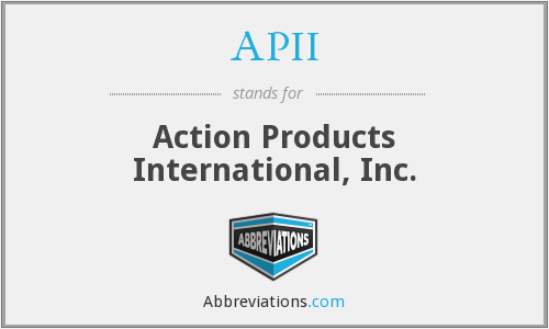 What does APII stand for?