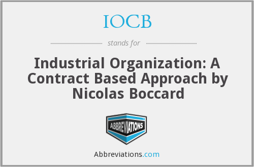 What does IOCB stand for?