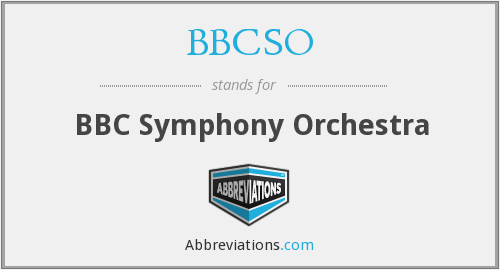 What does BBCSO stand for?