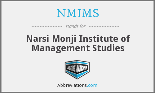 What does NMIMS stand for?