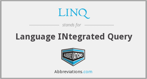 What does LINQ stand for?