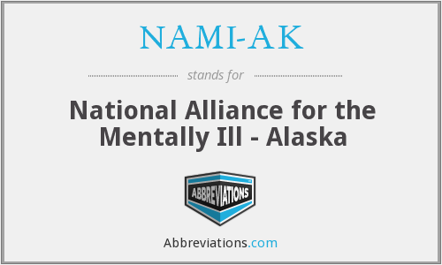 What does NAMI-AK stand for?