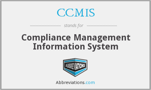 What does CCMIS stand for?