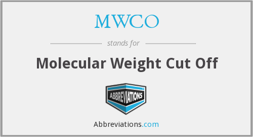 What does MWCO stand for?