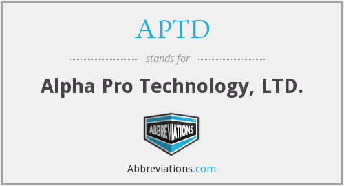 What does APTD stand for?
