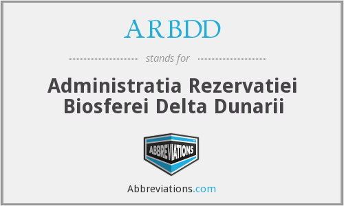 What does ARBDD stand for?