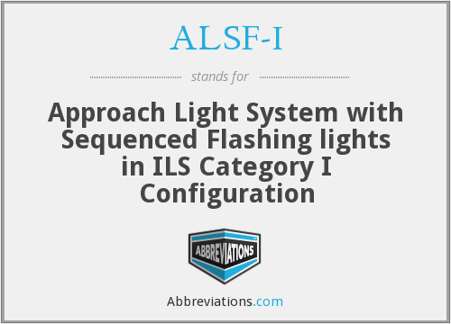 What does ALSF-I stand for?