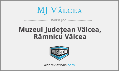 What does MJ VÂLCEA stand for?
