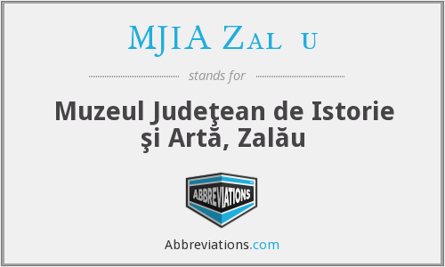What does MJIA ZALĂU stand for?