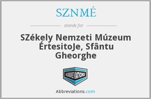 What does SZNMÉ stand for?