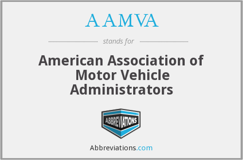 What does AAMVA stand for?