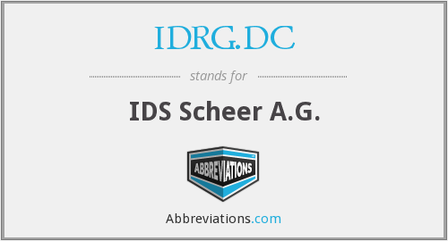 What does IDRG.DC stand for?