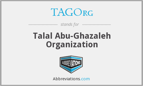 What does TAGORG stand for?