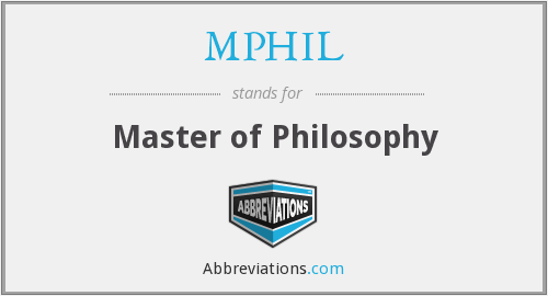 What does MPHIL stand for?