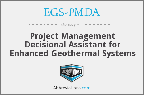 What does EGS-PMDA stand for?