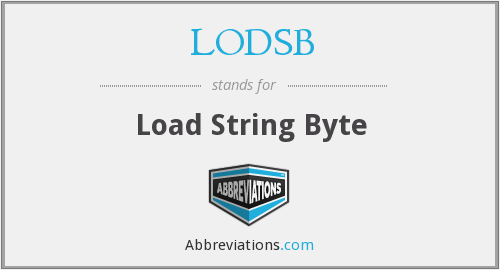 What does LODSB stand for?