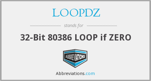 What does LOOPDZ stand for?