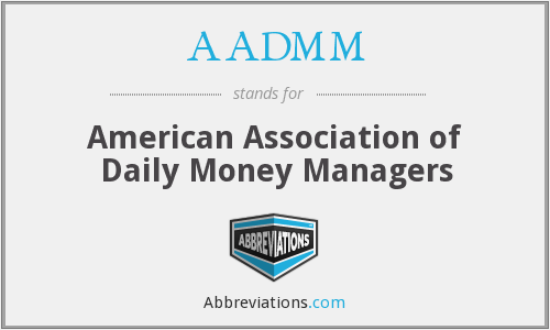 What does AADMM stand for?