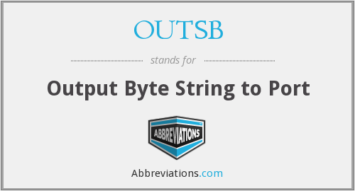 What does OUTSB stand for?